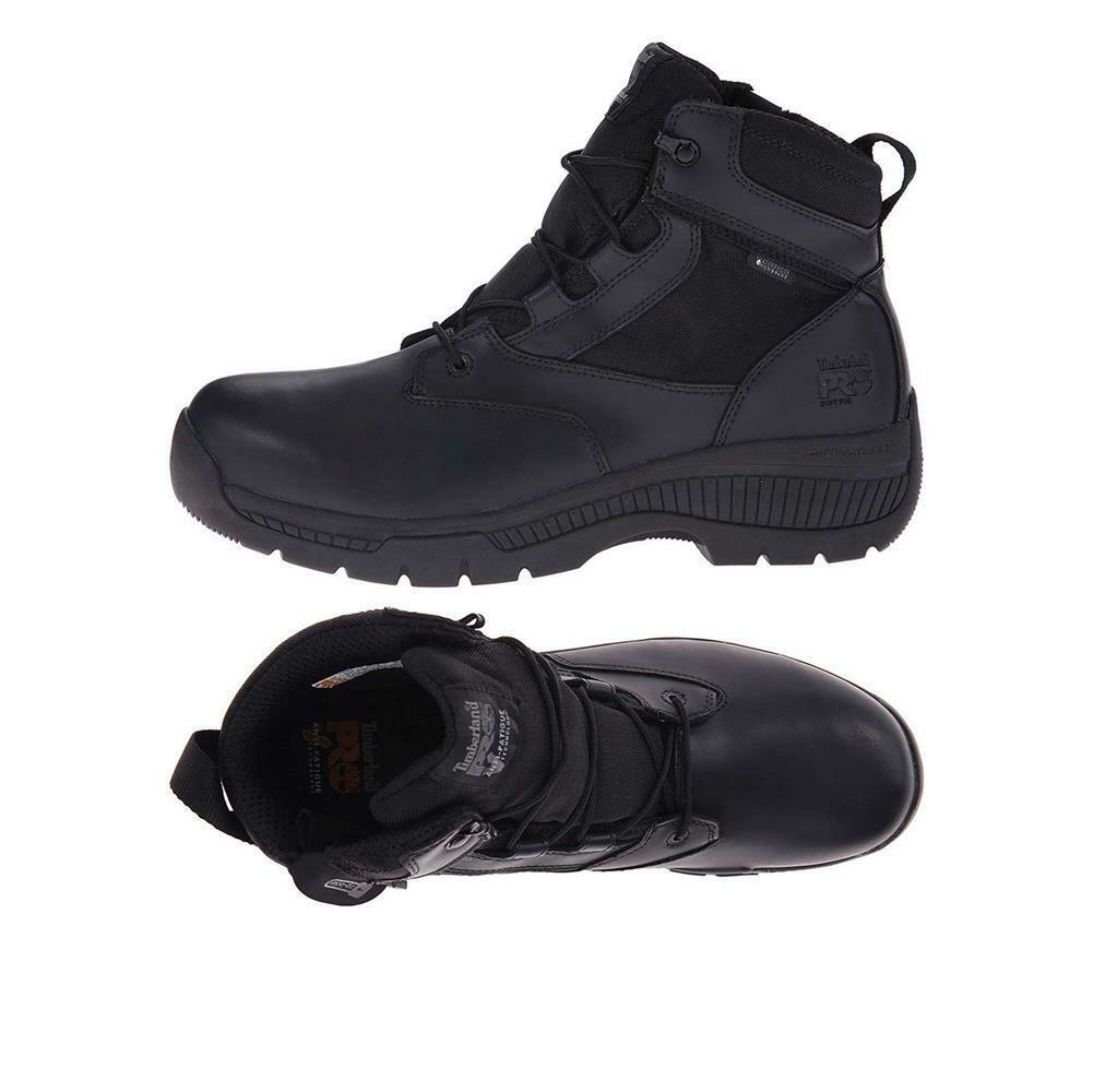 Timberland PRO Men's 6'' Valor Duty Soft Toe Waterproof Side-Zip Tactical Boots