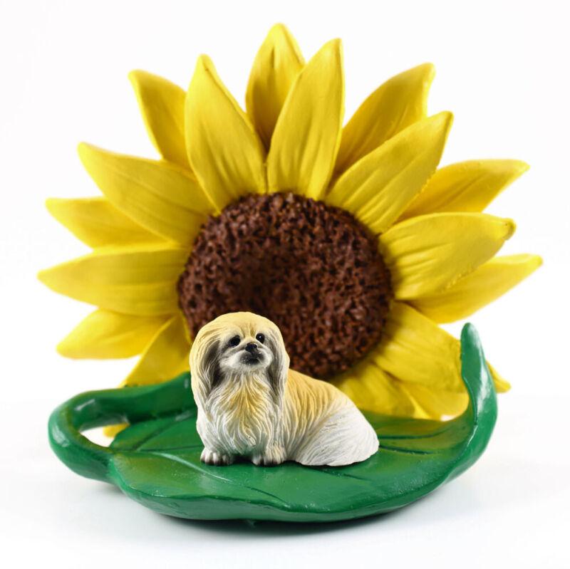 Pekingese Sunflower Figurine