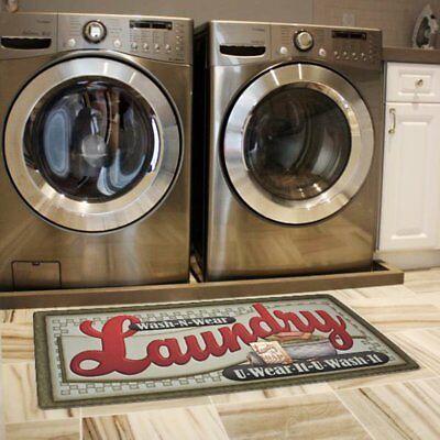Ustide Floor Rug for Laundry Room Nonslip Rubber Backer Mat