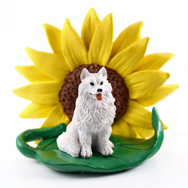 Samoyed Sunflower Figurine