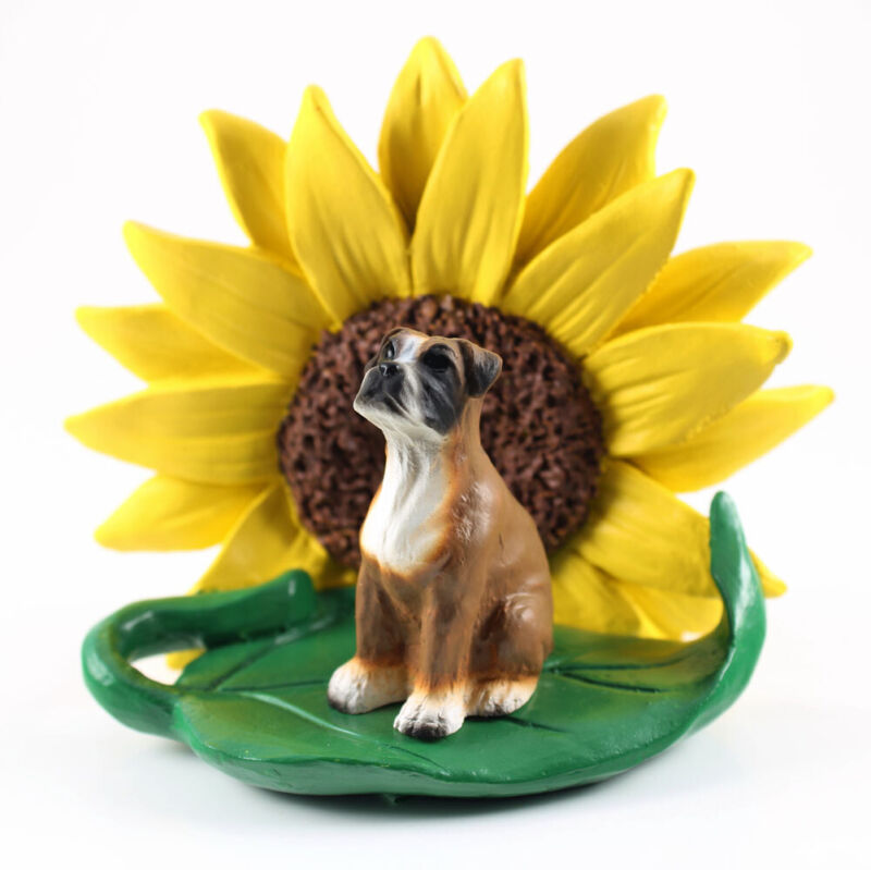 Boxer Sunflower Figurine Uncropped