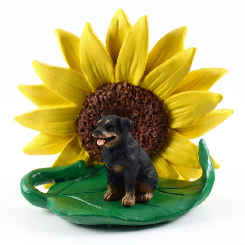 Rottweiler Sunflower Figurine