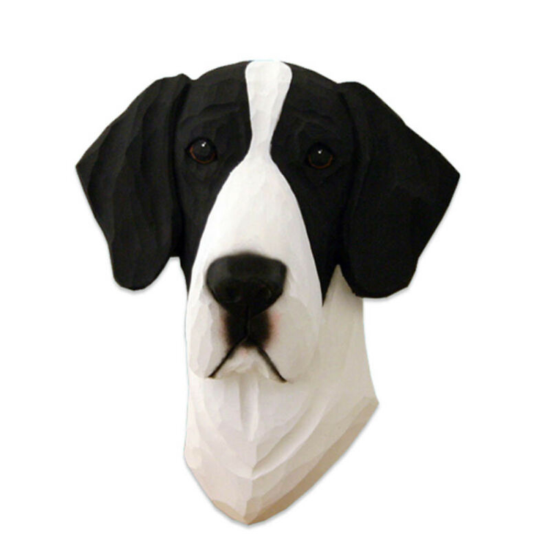 Great Dane Head Plaque Figurine Mantle Uncropped