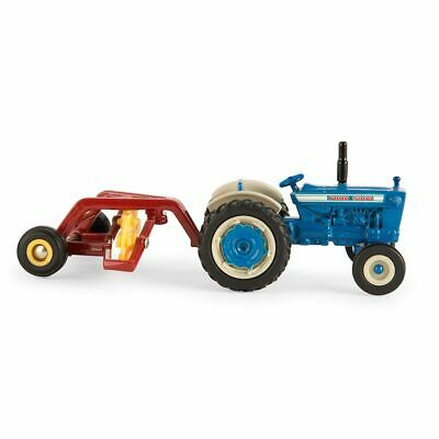 5000 Tractor (1/64 Ford 5000 Vintage Tractor and Hayrake Set Farm Toy Diecast ERTL)