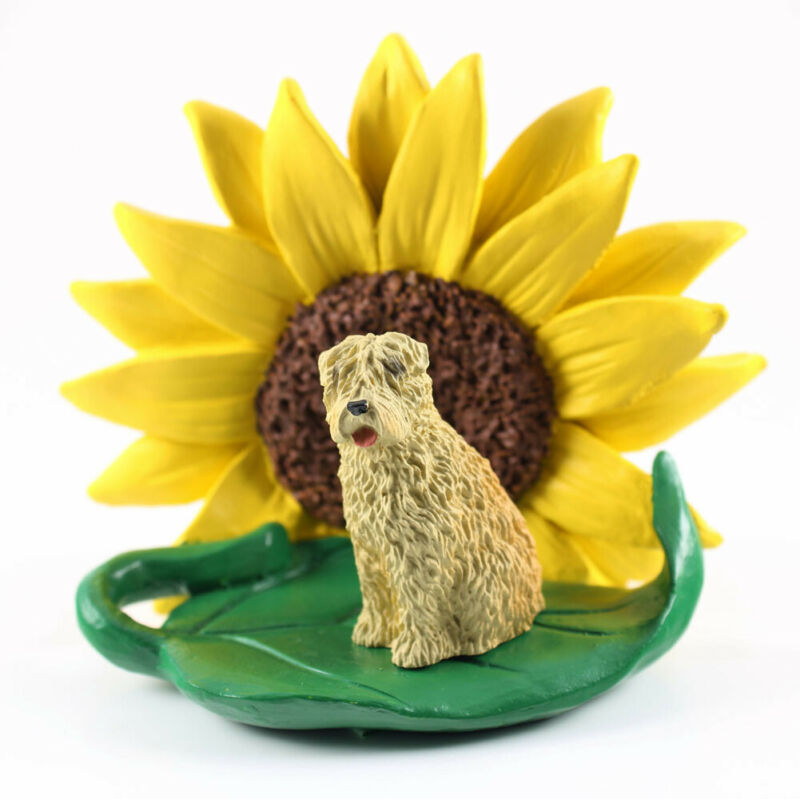 Soft Coated Wheaten Sunflower Figurine