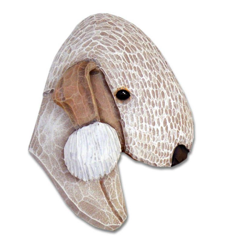 Bedlington Terrier Head Plaque Figurine Liver