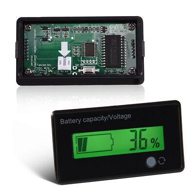 Green Backlit Lcd Display Battery Capacity Voltage Meter Test Voltmeter Monitor
