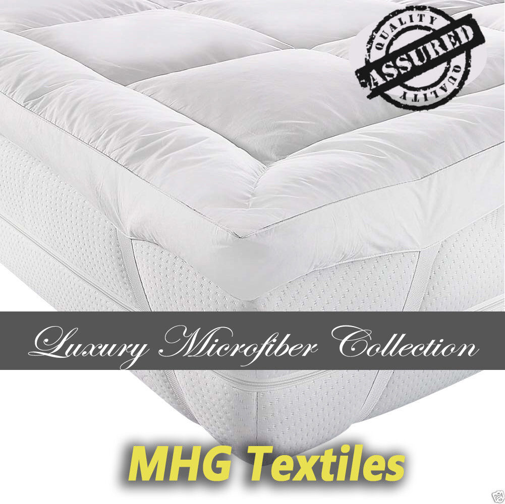Luxury Hollowfibre Mattress Topper All sizes