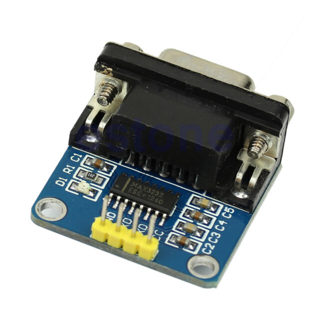 New RS232 Serial Port To TTL Converter Module MAX3232 DB9 Connector With Cable