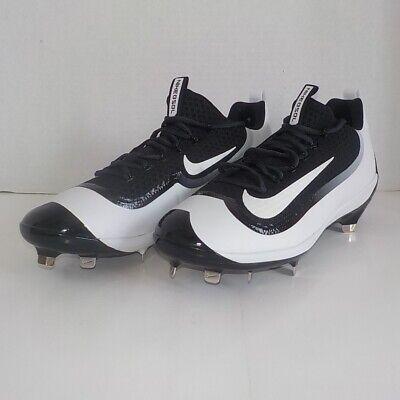 online retailer c5244 4ae9c Nike Huarache 2KFilth Low Metal Baseball Cleats BLACK WHITE 807129 010 SIZE  11