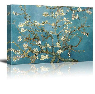"""Canvas Print -Almond Blossoms by Vincent Van Gogh Reproduction on Canvas-24""""x36"""""""