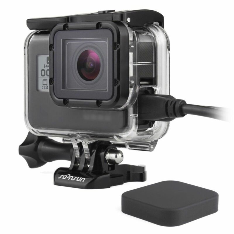 Side Opened Case Wire Connect Skeleton Housing Mount For GoPro Hero 5 6 7 Black