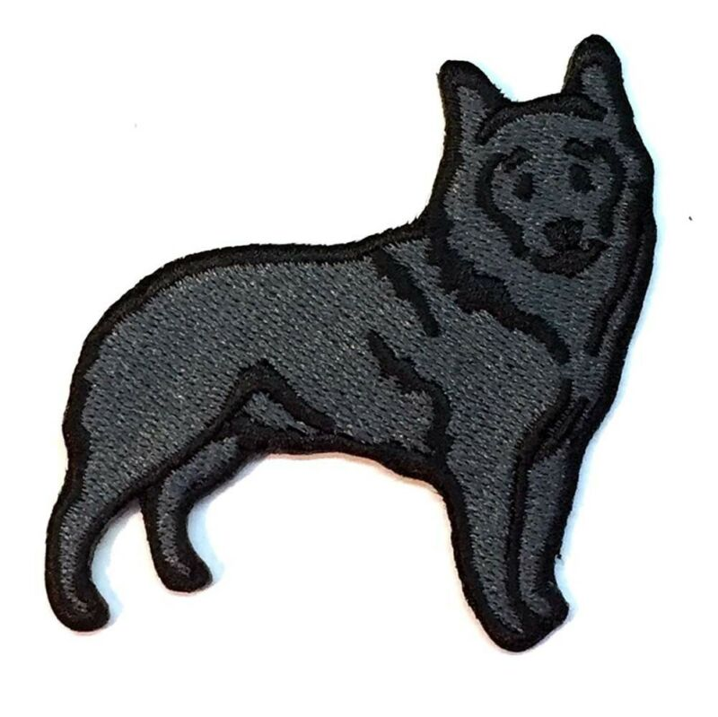 Schipperke Iron On Embroidered Patch