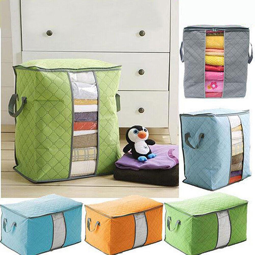 US Anti Dust Large Storage Bag Clothes Quilt Blanket Storage