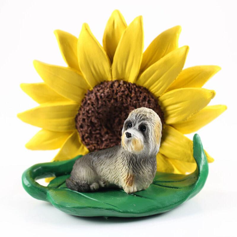Dandie Dinmont Sunflower Figurine