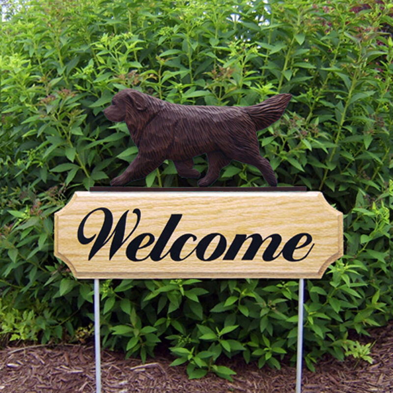 Newfoundland Wood Welcome Outdoor Sign Brown
