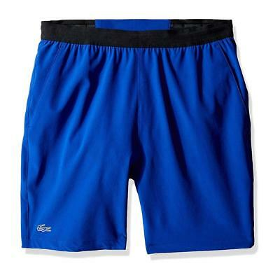 Lacoste Men Performance Contrast Waistband Stretch Logo Regular Fit Tennis Short