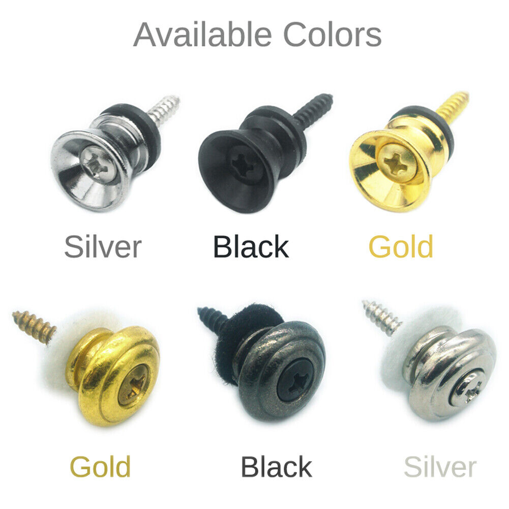 Guitar Strap Lock Button End Pin-Electric Acoustic Classical