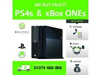 WANTED - Faulty, Spares Repairs, Water Damaged, Broken PS4 or XboxOne