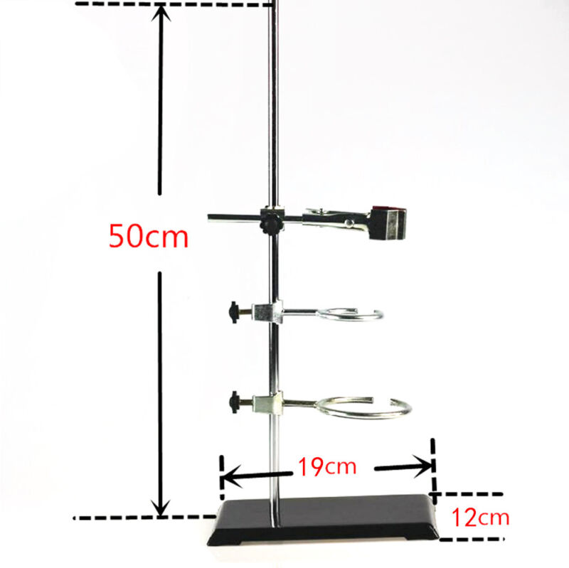 50CM Laboratory Iron Stand Set with Clamps for physics  chemistry experiment