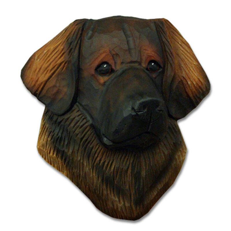 Leonberger Head Plaque Figurine
