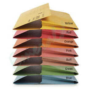 50-x-Foolscap-HEAVYWEIGHT-Document-Wallets-Various-Colours-To-Choose-From