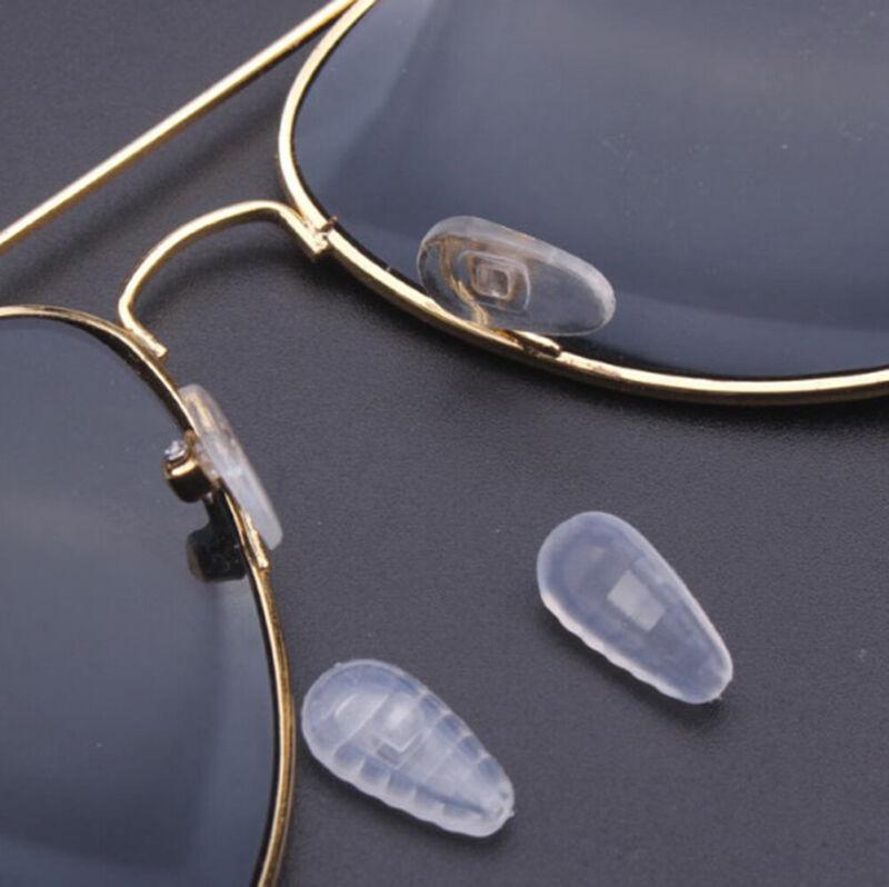 10 * Silikon-Luftkammer-Nasenpads für Brille Sonnenbrille Schraube drücken UE