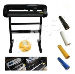 24inch 500g Cutter Plotter with 4yards PU Vinyl Heating Press Package(004551/002309)