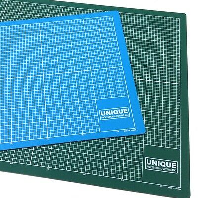 Cutting Mat A1 Professional Unique, 5 Ply,3mm Thick,antislip 5mm Grid Greenblue