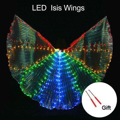 360 ° LED Isis Wings Bauchtanz Cosplay Glow Show Leuchten Kostüm mit Controller (Kostüm Mit Led-leuchten)