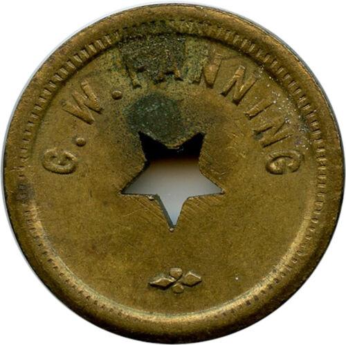 G. W. Fanning Keokuk, Iowa IA 5¢ Cigar Trade Token