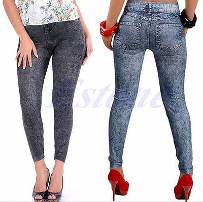 Sexy Women Jean Skinny Jeggings Stretchy Slim Leggings Fashion Skinny Pants NEW