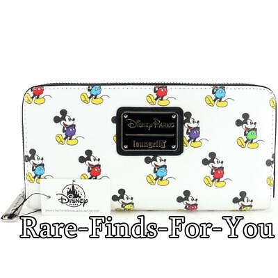 Disney Parks Mickey Mouse Multi-Colors Zip-Around Wallet by Loungefly (NEW/TAGS)