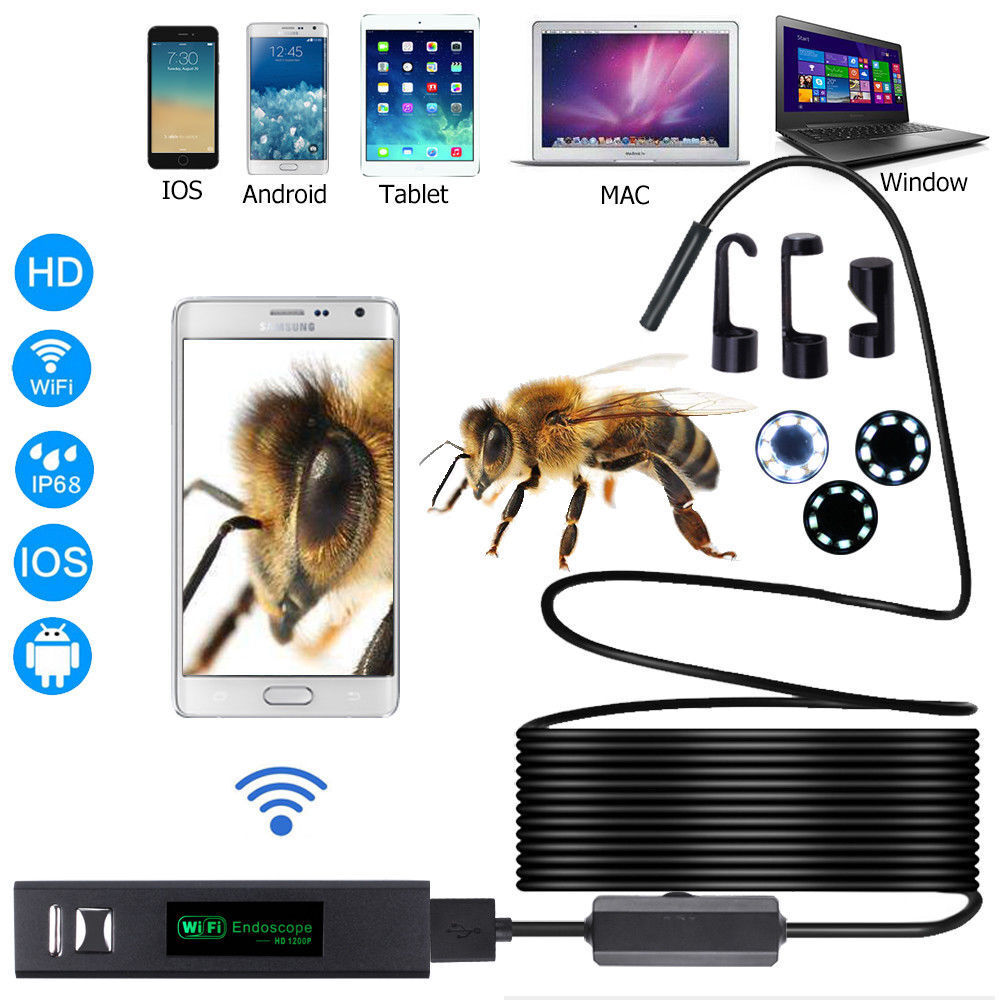 WiFi Waterproof IP68 Endoscope Inspection Camera HD – iPhone, Android, PC Consumer Electronics