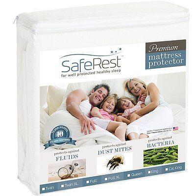Full Size SafeRest Premium Hypoallergenic Waterproof Mattres