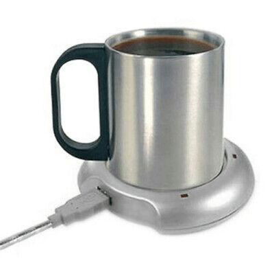 Tassenwärmer (USB TASSENWÄRMER MIT 4 PORT USB 2.0 HUB | MIT EDELSTAHL TASSE | CAFE TEE MILCH)