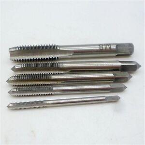 5pcs/Set M3 M4 M5 M6 M8 Hand Tap Straight Flute 3mm-8mm Hand Fast tapping ToolGx