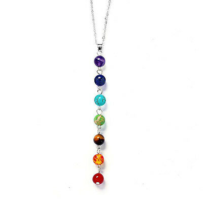 7 Chakra Healing Balance Beaded Pretty Necklace Natural Stone Yoga Reiki Prayer - Beads Necklace Natural Necklace