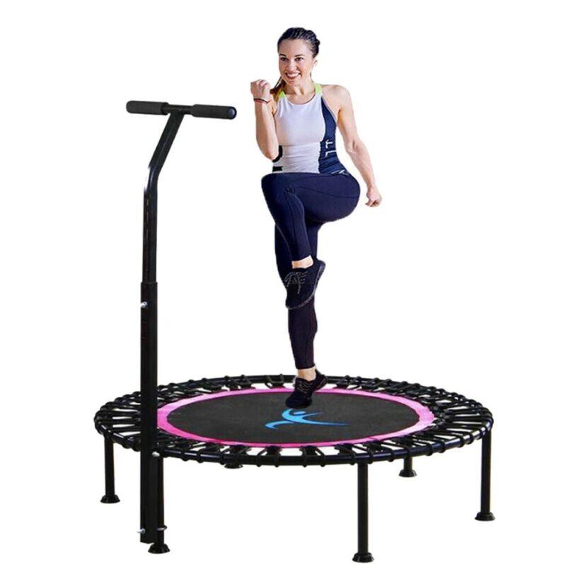 40'' Fitness Trampoline with Adjustable Handlebar indoor Max