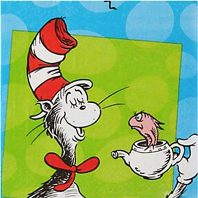 Dr Seuss Amscan Lunch Dinner Napkins 16 Per Package Birthday Party Supplies New - Dr Seuss Napkins