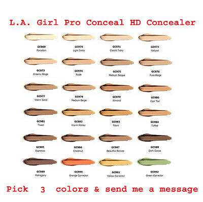 L.A. Girl Pro Conceal HD Concealer /  Pick 3 Colors