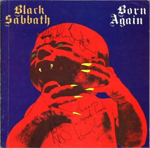 "BLACK SABBATH Born Again FULLY SIGNED 12"" Vinyl - Artwork Proof Sleeve AUTOGRAPH"