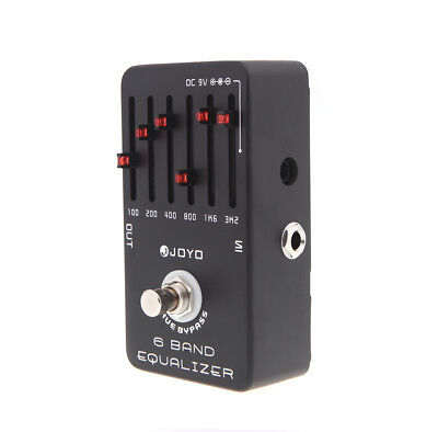 - Joyo JF-11 EQ Equalizer 6-Band Guitar Effect Pedal True Bypass Black