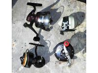 FISHING REELS AND OTHER EQUIPMENT