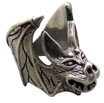 DELUXE CREEP BAT BIKER RING #BR81 MENS WOMENS jewelry SILVER halloween bats - Man Bat Halloween