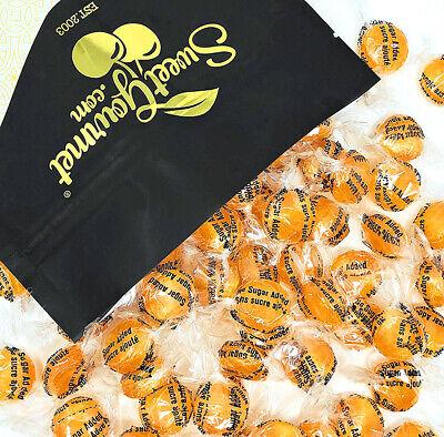 SweetGourmet Sugar Free Orange Buttons | Mini Bulk Hard Candy Kosher | (Kosher Orange Sugar)