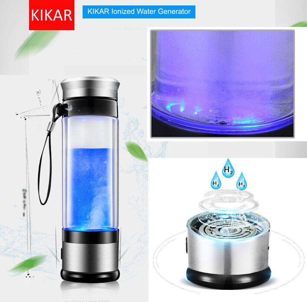 kikar wasserstoff wasser maker compact ionisator generator glasflasche 400ml bpa ebay. Black Bedroom Furniture Sets. Home Design Ideas