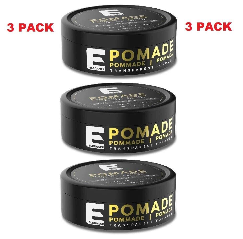 3 NEW!! SADA PACK ELEGANCE Transparent Pomade Hair Styling W