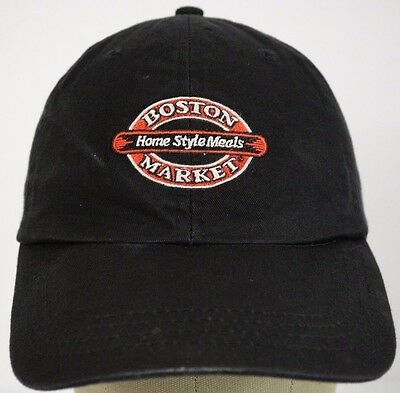 Boston Shop Home Style Meads Black Baseball Hat Cap and Adjustable Strap
