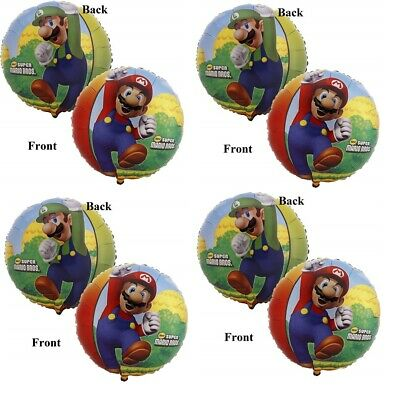 10.2x45.7cm Super Mario & Luigi Alles Gute Zum Geburtstag Folie Mylar Luftballon